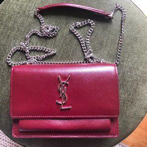 Saint Laurent Sunset Leather Crossbody Bag